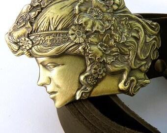 "Fine brass belt buckle ""Ukraine"" || Solid brass belt buckle || Hand cast & processed || Belt buckle for men and women || Handmade artwork"