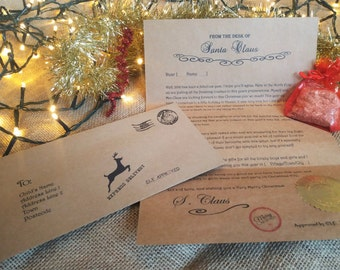 Letter from Santa with 'Official' Seal of Approval from Santa's Workshop!