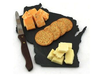Wisconsin Slate Cheese Board, Serving Tray, or Cutting Board