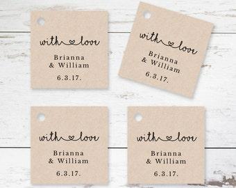 Wedding Favor Tag Printable Template - Editable Thank You Gift Tags - Wedding Gift Tags - Printable Favor Tag Template - Rustic Favor Tags