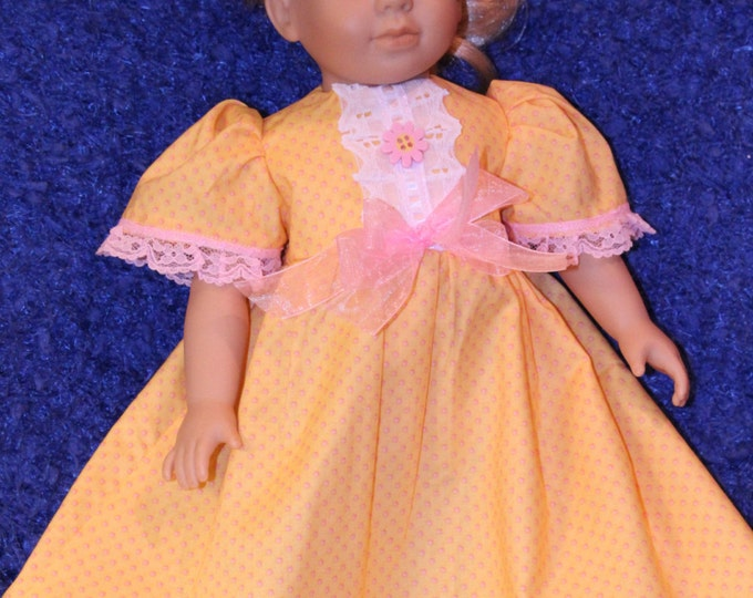 AG Doll clothing,Doll clothes,18 inch Doll clothing,Yellow doll dress,Pink doll dress,Pinafore Doll Dress,Baby Doll clothing,Handmade Doll