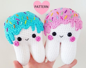 Sweet Tooth -  PDF Pattern, amigurmi, crochet