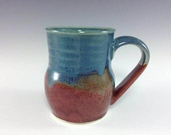 pottery coffee mug ceramic mug set ceramic mugs large blue pottery mug