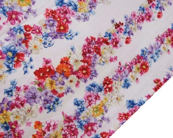 """Home Decor Cotton Fabric, Floral Print, Quilt Material, Dressmaking Fabric, Sewing Craft, 42"""" Inch Apparel Fabric By The Yard ZBC7109C"""