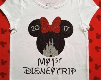 Disney Trip Shirts || My First Disney Family shirt | Minnie mouse shirt Disney family shirts baby girl clothes baby girl outfit girl outfit