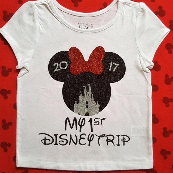 Disney trip shirts my first disney family shirt minnie for Diy disney shirt template