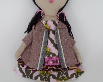 Handmade rag doll - Abella