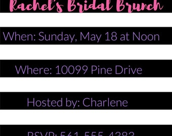 Floral Invitations, Shower Invitations, Bridal Shower invitations, floral bridal shower, Bridal Brunch, Bridal invitations, baby