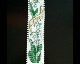 Handmade Month of May Cross Stitch Bookmark