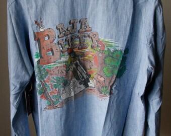 Vintage Baja Biker Chambray Shirt