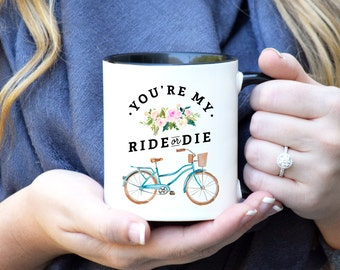Ride or Die Mug, Valentines Gift for her, Valentines day gift, Galentines Day, Gift for her, Wifey Mug, Gift for Girlfriend, Best Friends