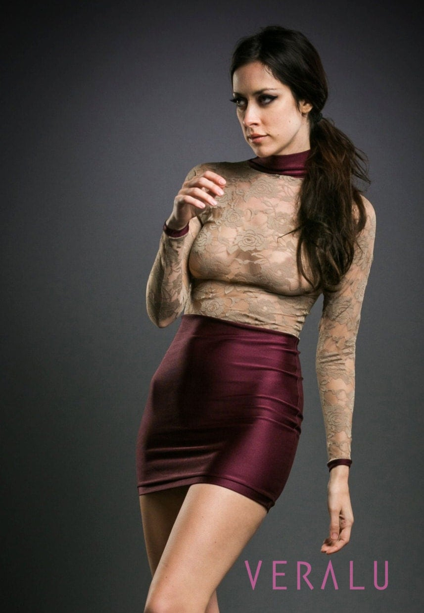 VERALU Sultry lace dress (wine)