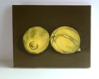 Lemon Still Life / original oil painting