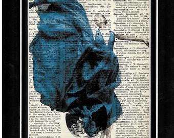 323 Ballerina/modern dance/art print/ vintage dictionary paper art