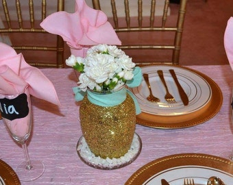Gold Centerpiece, Vase