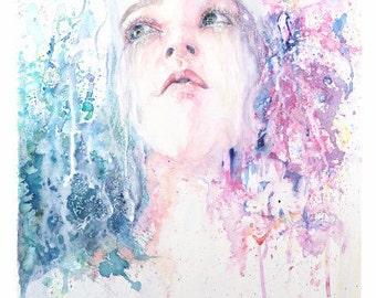 Little Sister - Carrie Hunt, Hunt Illustrations, Watercolor and Ink, Watercolor Illustration, Watercolor Design, Watercolour, Giclee Print