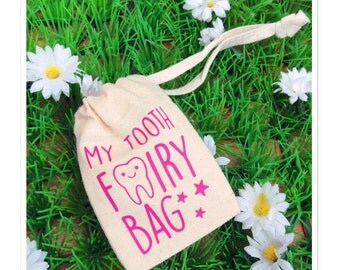 Childrens Personalised Tooth Fairy Storage Bag