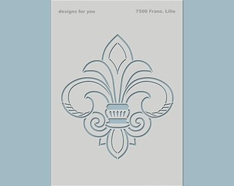 """Template / stencil """"French Lily"""" for E.g. textile design, mixed media, scrapbooking, canvas, art journaling, cards, cardboard, furniture,..."""