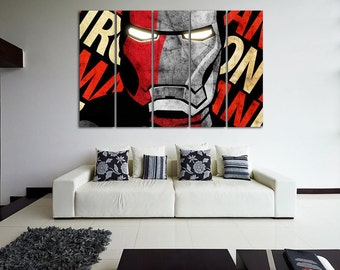 Iron Man Superhero Iron Man Wall Decor Avengers  canvas Iron Man Poster Iron Man canvas Iron Man Print Superhero Poster Comics