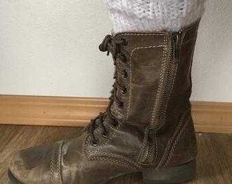 Chunky Knit Boot Cuffs
