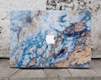 Gold Blue Marble Laptop Case Macbook Air Skin Computer Skin Macbook Decal Macbook Pro 13 Vinyl Laptop Sticker Laptop Cover Mac Air SK3141