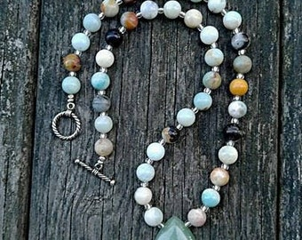 Amazonite Chakra Balancing Necklace