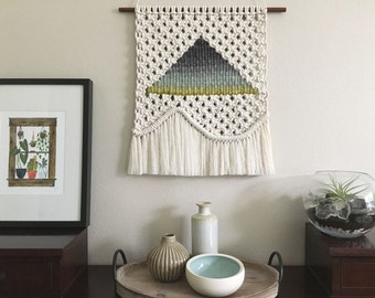 Macrame Weaving - Wall Hanging, Woven Tapestry