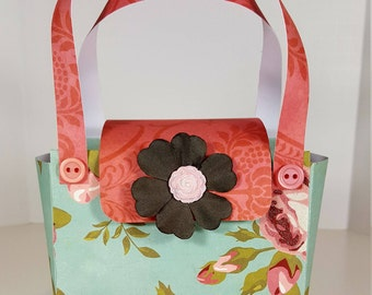 Paper Purse Gift Bag - Vintage Style Paper Purse Gift Bag