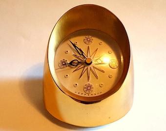 Mid century JEFFERSON INTERMEZZO cordless electric clock, atomic design, collectible clock, 60's clock, 580-251