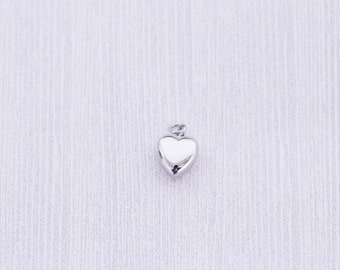 Tiny Heart Cremation Urn - Cremation Jewelry - Cremation Necklace - Ash Jewelry - Cremation Charm - Stainless Steel Urn - Jewelry Supplies