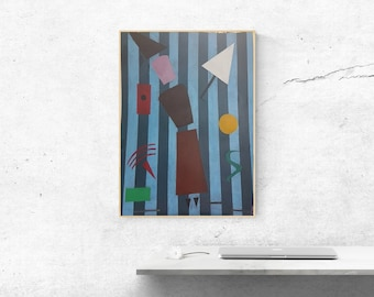 Home Decoration with Original Geometric Abstract Painting Large Wall Art Contemporary Art