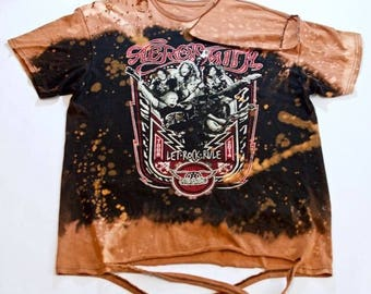 Aerosmith Distressed Tee (Men's Medium)