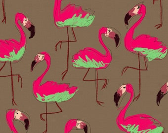 Flamingos Pattern , funny and create as by the hand of a little fancy girl.