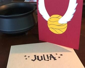 Harry Potter Golden Snitch Handmade Card