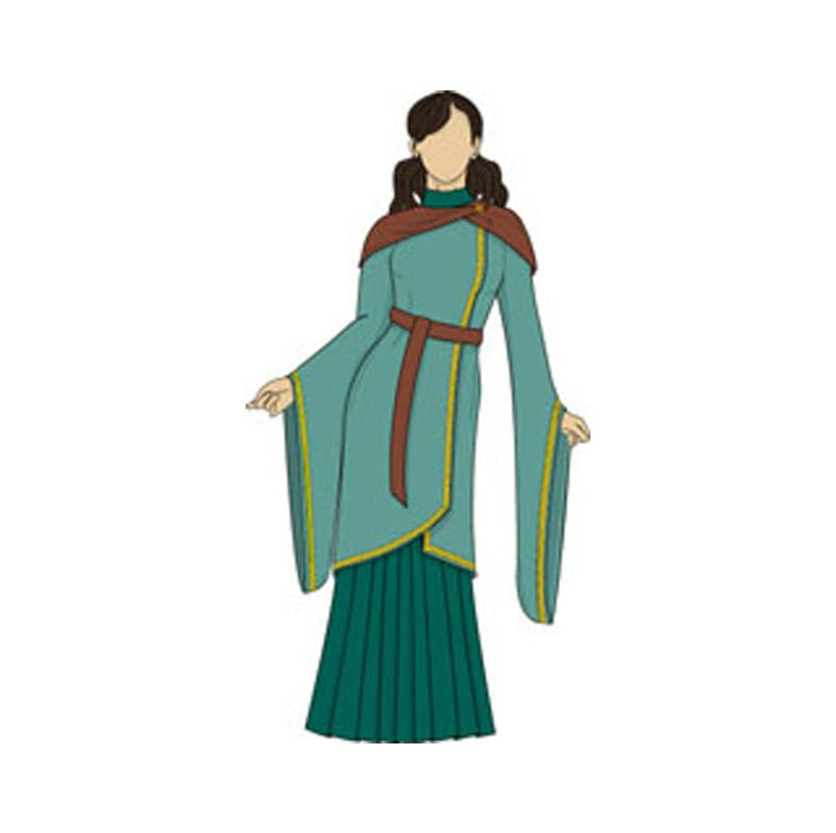 Full Medieval Outfit/Costume/Gown Sewing Pattern - Sizes 8-22 UK - Download PDF