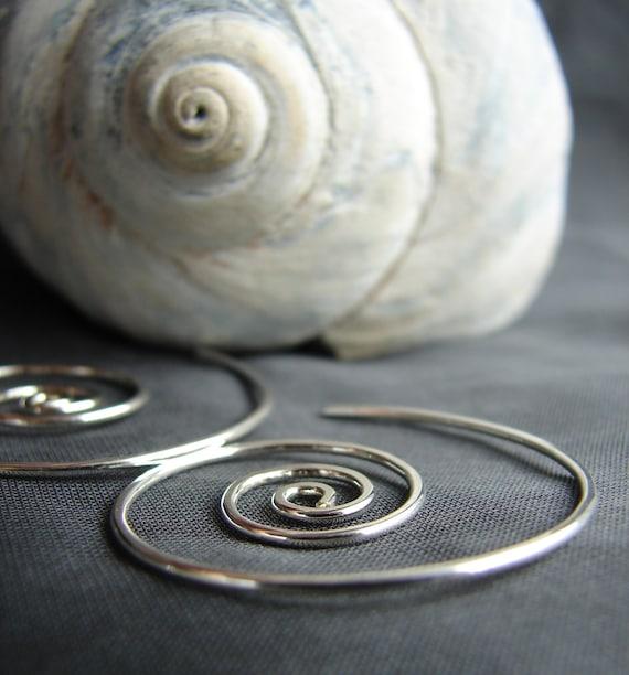 Nautilus wind earrings in sterling silver