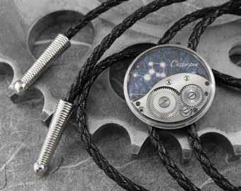 Steampunk Cassiopeia Constellation Bolo Tie - Marvelling At Cassiopeia's Crown by COGnitive Creations