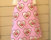 Valentine's Day Girls Jumper by custom order in sizes 1 to 8