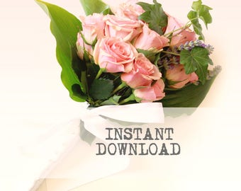 DIY Bridal Bouquet - DOWNLOAD - Instruction sheets only