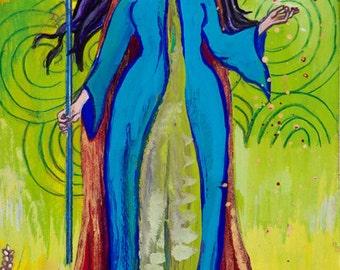 Tailtiu, Celtic Earth Goddess - Pagan Goddess Art