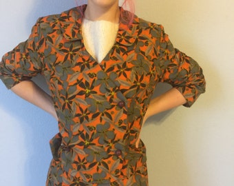 Vintage Women's Suit Hal Krasell Jackie-O Double Breasted Crop Jacket and Skirt - Medium