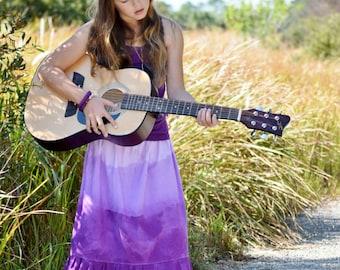 Girl's Maxi skirt - Boho maxi skirt - Toddler Maxi skirt - long skirt - tie dye skirt - Summer skirt - Bohemian skirt - purple skirt - maxi