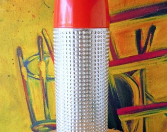 Vintage Mid Century Metal Thermos Atomic Bullet by Aladdin One Quart