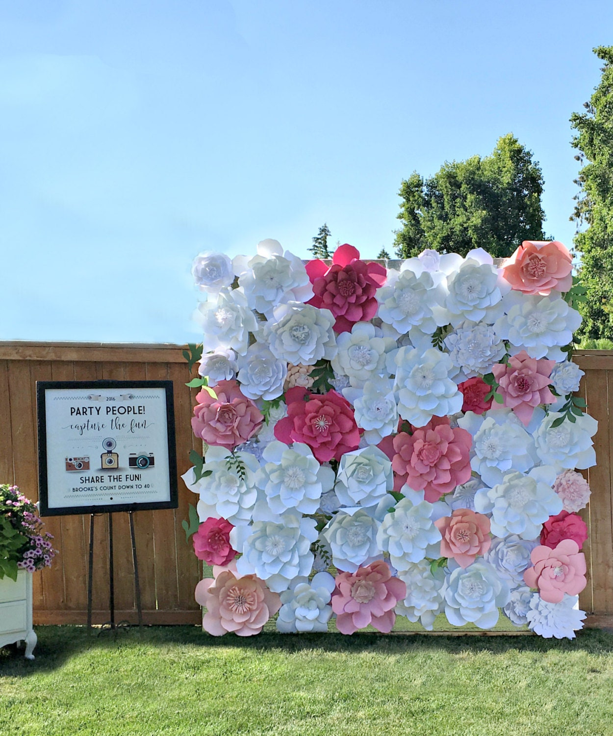 Giant Paper Flower Wall Wedding Backdrop Paper By