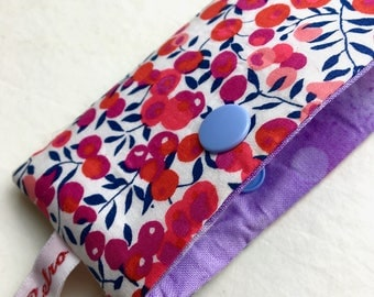 Dpn holder, Case for double Pointed Knitting needles, Liberty fabric- WILTSHIRE