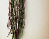 Calluna // wall hanging, glamping, deer ribs and silk