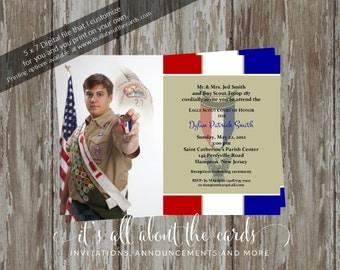 Eagle Scout Court of Honor Invitations - Prepared 2 khaki design-Digital File