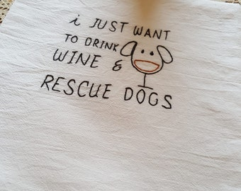 Drink wine and rescue dogs