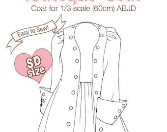 DCP11 - SD size Baroque Coat pattern Digital Download