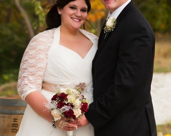 Shawl, ivory shawl, plus size wedding shawl, extra large bolero, wedding shawl and wrap, ivory bolero, lace shawl